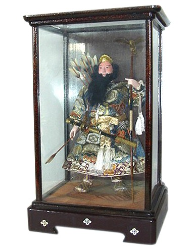 Japanese Antique Doll Of Imperor Jinmu Tenno Japanese