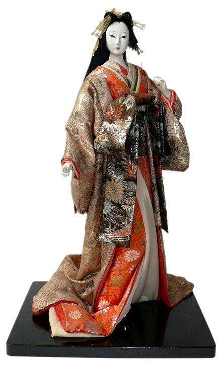 Oiran With Parasol Japanese Antique Doll Japanese Dolls