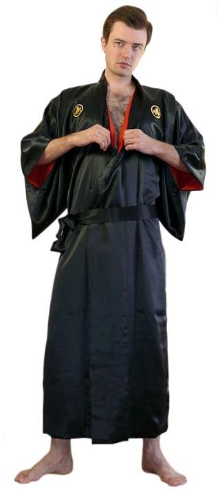 Japanese pure silk kimono for man directly from Japan ... Японцы В Кимоно