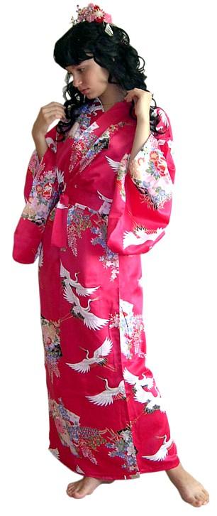 Кимоно из искусственного шелка