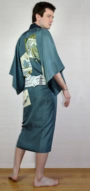 Japanese KM82108 Haori Linning Material Cloth Hawk Vintage